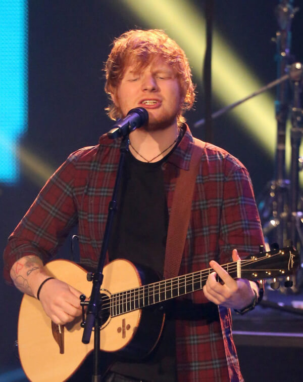 Ed Sheeran Singing a Song